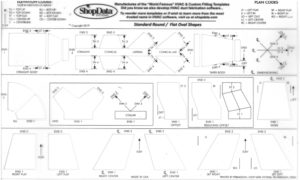 Clear Round HVAC Fitting Shape Template