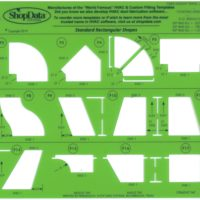 Green HVAC Fitting Shape Template